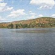 Panorama Red House Lake Allegany State Park Art Print