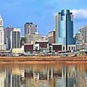 Panoramic Cincinnati Art Print