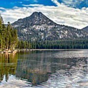 Panoramic Of Anthony Lake Art Print