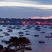 Panoramic Of The Marblehead Illumination Art Print by Jeff Folger