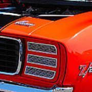 panoramic orange Z28 Camaro Art Print