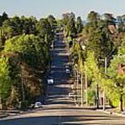 Panoramic Photo Of Katoomba Street Art Print