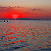 Panoramic Summer Sunset Art Print