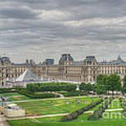 Panoramic View Musee Du Louvre Art Print