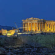 Panoramic View Of Acropolis Of Athens Art Print