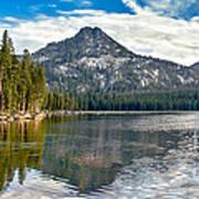 Panoramic View Of Anthony Lake Art Print