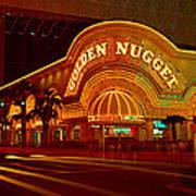 Panoramic View Of Golden Nugget Casino Art Print