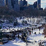 Panoramic View Of Ice Skating Wollman Art Print