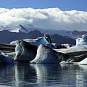 Panoramic View Of Icebergs And Glaciers Art Print