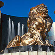 Panoramic View Of Mgm Lion And Mgm Art Print