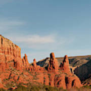 Panoramic View Of Red-rock Mountains Art Print