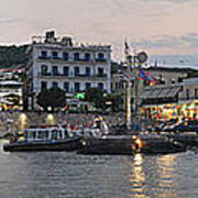 Panoramic View Of Spetses Town Art Print