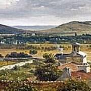 Panoramic View Of The Ile-de-france Art Print