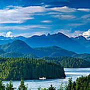 Panoramic View Of Tofino Vancouver Island Canada Art Print