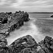 Ballycastle - Pans Rock To Rathlin Island Art Print