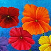 Pansies For Rosalina Art Print