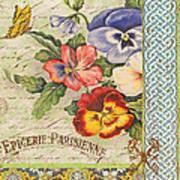 Pansy Garden-b Art Print