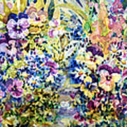 Pansy Path Art Print by Ann  Nicholson