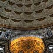 Pantheon Ceiling Detail Art Print