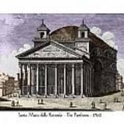Pantheon Santa Maria Della Rotonda Art Print