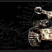 Panzer Tiger I Front Bk Bg Art Print