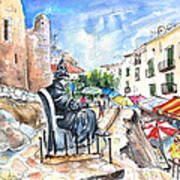 Papa Luna In Peniscola Art Print