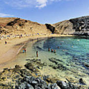 Papagayo Beach On Lanzarote Art Print