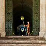 Papal Swiss Guard At The Vatican Museums Art Print