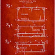Paper Currency Patent From 1962 - Red Art Print
