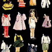 Paper Doll Amy Art Print by Marilyn Smith