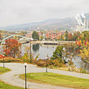 Paper Mill And Fall Colors In Rumford Maine Art Print