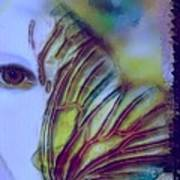 Papillon Bleu Art Print