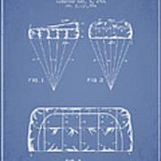 Parachute Design Patent From 1964 - Light Blue Art Print