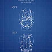 Parachute Harness Patent From 1922 - Blueprint Art Print