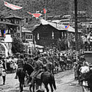 Parade Bisbee Arizona July 4th 1909 Color Added 2013 Art Print