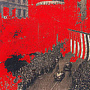 Parade Honoring General Eisenhower On June 29 1945 In New York City Art Print