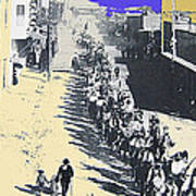 Parade Honoring General Nelson A. Miles  11-08-1887 Geronimo's Capture Tucson Color Added 2008 Art Print