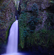Paradise Pours Wanclella Falls Oregon Art Print