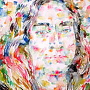 Paramahansa Yogananda Watercolor Portrait Art Print