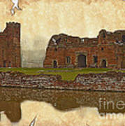 Parchment Texture Kirby Muxloe Castle Art Print
