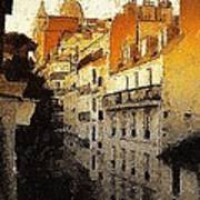 Paris Apartment View Of Montmartre Art Print
