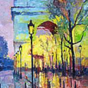 Paris Arc De Triomphie  Art Print by Yuriy  Shevchuk