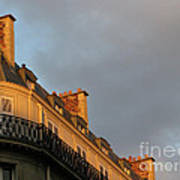 Paris At Sunset Art Print