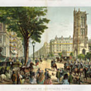 Paris Boulevard, 1859 Art Print