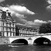 Paris Building In Bw Art Print