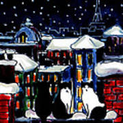Paris Cats Art Print