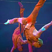 Paris Circus Acrobats Art Print