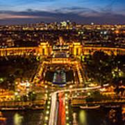 Paris City From The Eiffel Tower Art Print