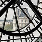 Paris Clock Art Print