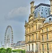 Paris Ferris Wheel Art Print